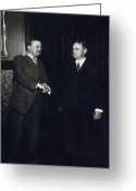 Presidential Portrait Greeting Cards - Theodore Roosevelt and Hiram Johnson after nomination Greeting Card by International  Images