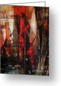 Abstract Art Online Greeting Cards - There is a crack in everything Greeting Card by Lutz Baar