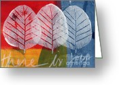 Red Sign Greeting Cards - There Is Joy Greeting Card by Linda Woods