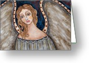 Angel Pastels Greeting Cards - There Greeting Card by Rain Ririn