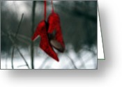Red Shoes Greeting Cards - Theres no Place Like Home Greeting Card by Sharon Coty