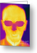 Human Being Photo Greeting Cards - Thermogram Of An Elderly Man Greeting Card by Ted Kinsman