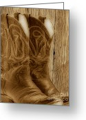 Barn Images Greeting Cards - These Boots were Made For Greeting Card by Cheryl Young