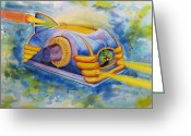 Toaster Digital Art Greeting Cards - They Are On The Way Greeting Card by Cliff Barrow