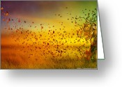 Hues Greeting Cards - They call me Fall Greeting Card by Karen Koski