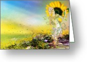 Pastels. Greeting Cards - They call me Summer Greeting Card by Karen Koski