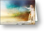 Snow Digital Art Greeting Cards - They call me Winter Greeting Card by Karen Koski