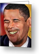 Democrat Painting Greeting Cards - They called me Mr. President 1 Greeting Card by Reggie Duffie