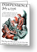 Declaration Of Independence Greeting Cards - They Kept The Faith Greeting Card by War Is Hell Store