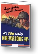 Soldiers Greeting Cards - Theyre Fighting Harder Than Ever Greeting Card by War Is Hell Store