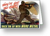 States Digital Art Greeting Cards - Theyve Got The Guts Greeting Card by War Is Hell Store