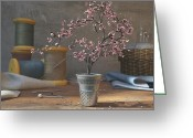 Blossom Greeting Cards - Thimblefull Greeting Card by Cynthia Decker
