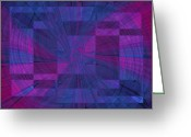 Violet Blue Digital Art Greeting Cards - Think Greeting Card by Tim Allen