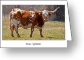 Onyonet Photo Studios Greeting Cards - Think Vegetarian Greeting Card by  Onyonet  Photo Studios