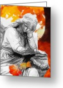 Angel Pastels Greeting Cards - Thinking about Autumn Greeting Card by Stefan Kuhn