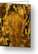 Nudes Males Greeting Cards - Thinking About You Greeting Card by Kurt Van Wagner