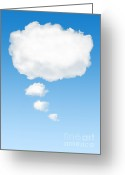 Bubble Greeting Cards - Thinking Cloud Greeting Card by Carlos Caetano