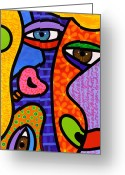 Pink Painting Greeting Cards - Third Eye Rising Greeting Card by Steven Scott