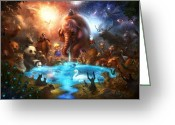 Heaven Greeting Cards - Thirst For Life Greeting Card by Alex Ruiz