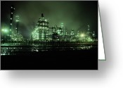 Factories Greeting Cards - This Beautiful Night Shot Shows What Greeting Card by George Grall