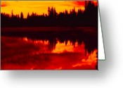Lakescape Greeting Cards - This is British Columbia 15 - Long Meadow Lake Greeting Card by Paul W Sharpe Aka Wizard of Wonders