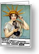 World War One Greeting Cards - This Is Liberty Speaking Greeting Card by War Is Hell Store