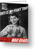 Second Greeting Cards - This Is My Fight Too Greeting Card by War Is Hell Store