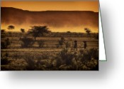 Northern Africa Greeting Cards - This is Namibia No. 12 - Walking The Desert Greeting Card by Paul W Sharpe Aka Wizard of Wonders
