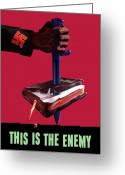 Poster From Greeting Cards - This Is The Enemy Greeting Card by War Is Hell Store
