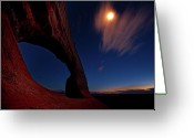 Utah Weather Greeting Cards - This is Utah No. 2 - Williams Arch Stars Greeting Card by Paul W Sharpe Aka Wizard of Wonders