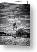 Shed Greeting Cards - This is Washington State No. 12 - The American Windmill Greeting Card by Paul W Sharpe Aka Wizard of Wonders