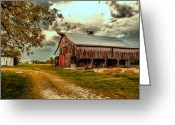 Dilapidated Greeting Cards - This Old Barn Greeting Card by Bill Tiepelman