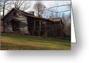 Log Cabin Photographs Photo Greeting Cards - This Old Cabin Greeting Card by Robert Margetts