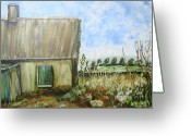 Abandoned House Painting Greeting Cards - This Old House Greeting Card by Shelley Bain