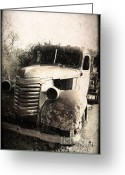 Rusted Cars Digital Art Greeting Cards - This Old Truck Greeting Card by Danuta Bennett