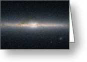 Interstellar Clouds Photo Greeting Cards - This Panoramic View Encompasses Greeting Card by Stocktrek Images