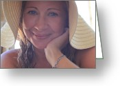 Head-shot Greeting Cards - This Smile Was For You Greeting Card by Laurie Search