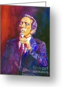 Featured Artist Painting Greeting Cards - This Song Is For You - Andy Williams Greeting Card by David Lloyd Glover