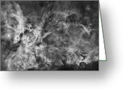 Carina Nebula Greeting Cards - This View Of The Carina Nebula Greeting Card by ESA and nASA