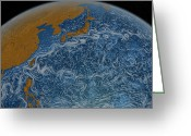 Ocean Path Greeting Cards - This Visualization Shows Ocean Surface Greeting Card by Stocktrek Images