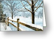 Winter Photos Painting Greeting Cards - This Winter Greeting Card by Subesh Gupta