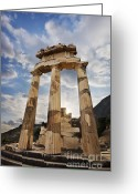 Pillar Greeting Cards - Tholos at Delphi Greeting Card by Richard Garvey-Williams