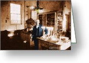 Thomas Edison Greeting Cards - Thomas Edison, American Inventor Greeting Card by Science Source