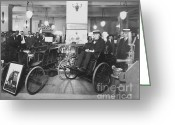 Thomas Edison Greeting Cards - Thomas Edison In Quadricycle Greeting Card by Photo Researchers