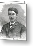 Thomas Edison Greeting Cards - Thomas Edison, Us Inventor Greeting Card by Humanities & Social Sciences Librarynew York Public Library
