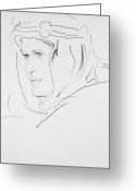 Headdress Greeting Cards - Thomas Edward Lawrence Greeting Card by Granger