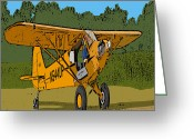 Airplanes Digital Art Greeting Cards - Thomas Greeting Card by Steven Richardson