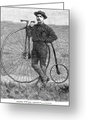 Penny Farthing Greeting Cards - Thomas Stevens, 1884 Greeting Card by Granger