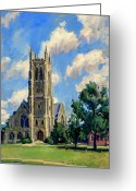 Thor Greeting Cards - Thompson Chapel Williams College Greeting Card by Thor Wickstrom