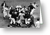 Home Run Greeting Cards - Thomson Home Run, 1951 Greeting Card by Granger